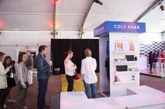 Cole Haan interactive booth: Sponsor Cole Haan created an interactive booth in the Experiences Hub. The company invited guests to design the cover of their future memoir. The book cover was then printed and wrapped around a sketchbook for them to take home.