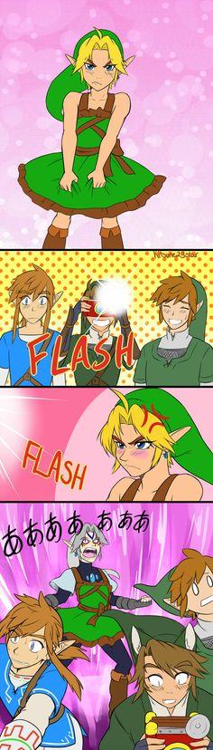 Dressed Link, The Legend of Zelda series artwork by Kitsune 23 Star.