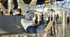 Ostrich Pillow en el Aeropuerto