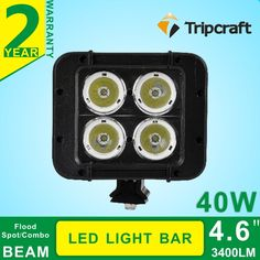 97.61$  Watch now - http://alif1q.worldwells.pw/go.php?t=32736304872 - 4.6''INCH 40W LED Light Bar Off Road Lights car Lamp Spot Flood Combo Beam For Truck SUV Boat 4X4 4WD ATV Tractor led car 97.61$