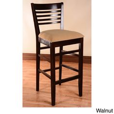 "Benkel Seating Venetion 30"" Bar Stool Finish: Walnut"