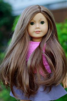Sweet American Girl Doll Custom MyAG 61 green eyes Marie-Grace wig OOAK #DollswithClothingAccessories