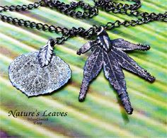 Real Silver Oxidized Leaves Lariat or Wrap Chain Necklace, Japanese Maple and Aspen. $21.95, via Etsy.