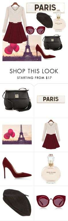 """""""Long Live Paris"""" by briannaandrews500 ❤ liked on Polyvore featuring Karl Lagerfeld, Rosanna, Gianvito Rossi, River Island, Parkhurst and House of Holland"""