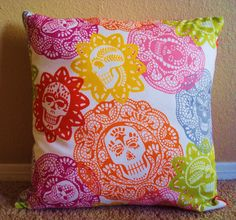 Love this fabric! Papel Picado Throw Pillow Cover by ShopSugarsnap on Etsy