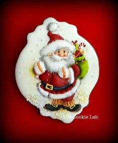 Santa by Marta Torres of The Cookie Lab.  Adorable! ♡