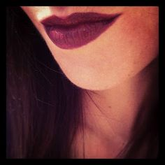"my secret mix for dramatically deep lip color: @Sephora's ""bewitch me"" & mac cosmetic's ""russian red."" #vamp #lipstick"