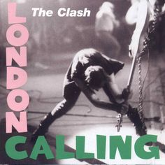 <b>The Clash - London Calling</b>: Photographer Pennie Smith didn't want this blurry live shot to be used for the cover, but Joe Strummer and the band's graphic designer Ray Lowry overrode the decision, adding in the distinctive pink and green lettering of Elvis Presley's debut album. The remains of the shattered bass are now on display at Cleveland's Rock and Roll Hall of Fame.