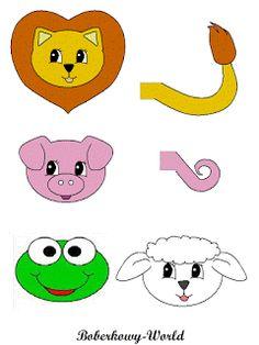 Boberkowy World : warsztatoweLove - Kukiełki z rolek (zwierzęta) i gluty
