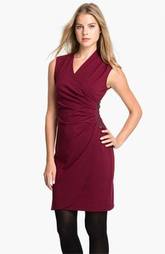 Wrap dresses use diagonals to create an hourglass shape. This sleeveless dress also brings in the shoulders for those with broad shoulder body types like rectangles or inverted triangles. Wear with tights and tall boots if the length is age inappropriate.