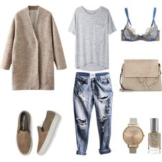 Fresh by fashionlandscape on Polyvore featuring Mode, rag & bone/JEAN, L'Agent By Agent Provocateur, Common Projects, Chloé, Topshop and Priti NYC