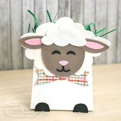 Dies - Sack It - Lamb - Taylored Expressions Eid Crafts, Paper Crafts, Lamb Cupcakes, Easter Lamb, World Crafts, Treat Holder, Easter Celebration, Punch Art, Favors