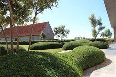 Aangelegde tuinen door tuinonderneming Monbaliu - Landschap tuin rond Zuienkerse polder hoeve