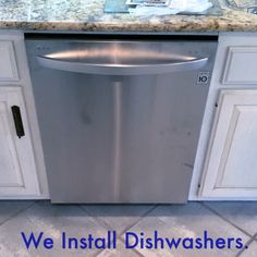 We install dishwashers! If you need a dishwasher installed this holiday season give us a call!