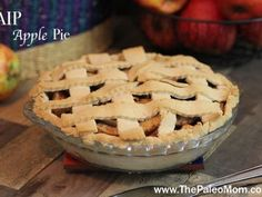 This perfect pie crust recipe is gluten-free, allergen-free, Paleo, AIP and flakey deliciousness! Use for your favorite sweet or savory deep dish or pot pies! Paleo Apple Pie, Apple Pie Crust, Gluten Free Apple Pie, Apple Pie Recipes, Paleo Recipes, Free Recipes, Apple Pies, Paleo Meals, Paleo Sweets