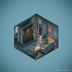 #hashtag_everyday_project. Room 3. Living room. #c4d #3d #isometric #lowpoly #render #interiordesign. by captainmcstaresalot