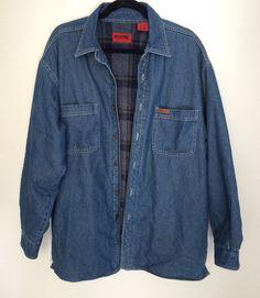 909d2faeca8c8f 80s Wolverine Mens Jean Shirt Jacket size by MyVintageApartment Denim  Button Up