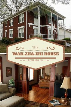 Built in 1925, the Wah-Zha-Zhi House in Pawhuska, Oklahoma welcomes visitors with modern comforts and traditional charm. Relax in a spacious suite with hardwood pine floors before enjoying a cool evening on the covered deck.