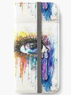 """iPhone X wallet designed by Artist """" Eye Color Love """" iPhone Wallets all sizes by Sophie Appleton 