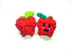 cool 3-D Happy Apple Tutorial by feelinspiffy (Rainbow Loom)