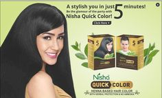 Nisha quick color offers quickest hair color in Just 5 Mins*. It is henna based that gives you herbal protection with no ammonia along with being the fastest hair color formula ever launched in the industry… Henna Hair Color, Henna Hair Dyes, Herbal Hair Colour, Buy Henna, Dyed Hair Men, Perfect Hair Color, Hair Color Formulas, Hair Removal Cream