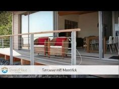 Strandhaus an der Ostsee mobile Deck Railings, Baltic Sea, Bungalow, The Good Place, Beach House, Architecture Design, Places To Go, Life Hacks, Camping
