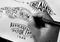Delahaye project by bmd design on the Behance Network Typography Letters, Hand Lettering, Bordeaux, Type Treatments, Typo Logo, Hand Logo, Design Graphique, Logo Inspiration, Good Books