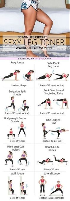 The ultimate sexy leg toner lower body circuit workout – Ever Well Women. Follow personal trainer at Pinterest.com/SuperDFitness now!: