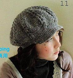 Bonnets , chapeaux , casquettes , bérets et leurs grilles gratuites , au crochet ! - Le blog de Anne