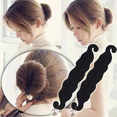 Phenomenal 2Pcs Beauty Hair Hairstyle Sponge Foam Bun Holder Maker Clip Short Hairstyles For Black Women Fulllsitofus
