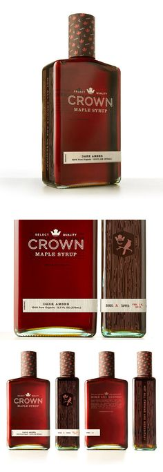 CROWN MAPLE SYRUP packages. http://lovelypackage.com/crown-maple-syrup/