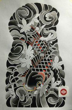 Full Back Tattoos, Full Sleeve Tattoos, Dragon Sleeve Tattoos, Japanese Tattoo Art, Japanese Tattoo Designs, Samurai, Koi Tattoo Design, Flame Tattoos, Tattoo Background