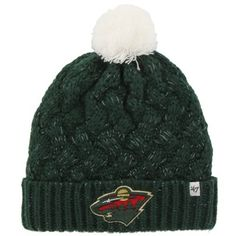 Womens Minnesota Wild '47 Brand Green Fiona Knit Beanie--Must have gift for all my girlfriends!