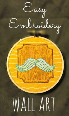 Easy Embroidery Wall Art - mommylikewhoa.com