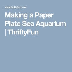 Making a Paper Plate Sea Aquarium | ThriftyFun