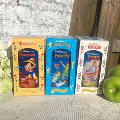 3 Vintage Disney Collector's Cup set Peter Pan Pinocchio Dumbo Burger King mug tumbler pint glass Series retro Coca Cola Box by WonderCabinetArts