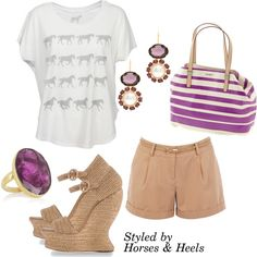 EKIL TRIHS!!! .....Purple: Color of the Month on Horses & Heels