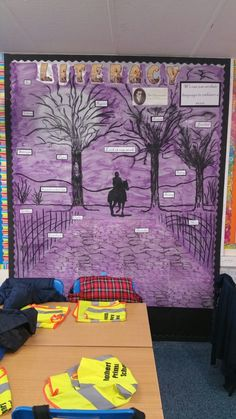 The Highwayman Yr 5 literacy display. Paint, chalk and pen