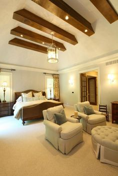 Sophisticated Casual Master Bedroom by W Design
