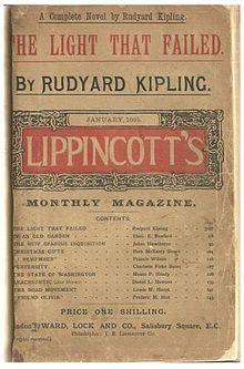 The Light that Failed - Wikipedia, the free encyclopedia Tom Thomson, Story Writer, If Rudyard Kipling, Fails, Novels, Free, Make Mistakes, Fiction, Romance Novels