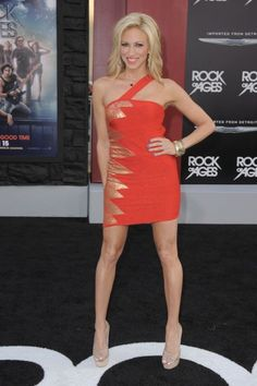"Debbie Gibson arrives at the ""Rock of Ages"" premiere at Grauman's Chinese…"