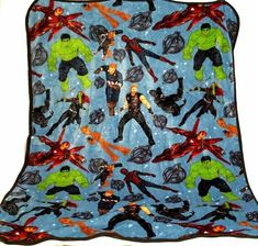 "Avengers Thor Nogginz Marvel Pillow and Blanket Set Super Soft 60/"" x 90/"""