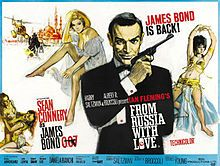 From Russia with Love is the second James Bond film made by Eon Productions and the second to star Sean Connery as the fictional MI6 agent James Bond.