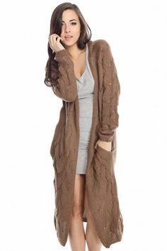 Long Ivory love stitch duster coat cardigan maxi NWT | Maxi ...