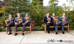 www.mjsphotography-eugene.com MJ's Photography Wedding Photographer. Photos. Pictures. Portraits. Groomsmen. Best Man. Bridal Party. Orange Socks. Suit and Tie. Orange and Grey. Outside. Outdoors. Natural light. Bouquet. Flowers. Fall Wedding. Fun. Silly. Goofy. Funny. Must Have Photos. Ideas. Thoughts. List. outfits. Bride and Groom. Wedding Planning. Local Photographer. Local Photography. Eugene. Bend. Portland. Albany. Salem. Oregon.