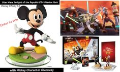 Disney Infinity 3.0 Star Wars Twilight of the Republic PS4 Starter Pack with Mickey Character Giveaway