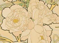 lilyashwell:  Alphonse Mucha, Detail fromPeonies(1897)
