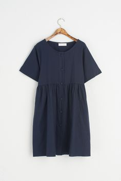 Olive - Round Neck Button Front Babydoll Dress, Navy, £69.00 (https://www.oliveclothing.com/p-oliveunique-20170603-004-navy-round-neck-button-front-babydoll-dress-navy)