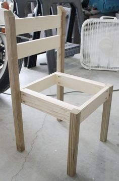 Cute DIY kids play table and chair set - doesn't look too hard to build!
