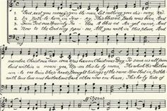 Free vintage music notes and script writing image